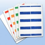 adhesive name badge sheets