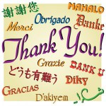 saying thank you using name tags name plates signs