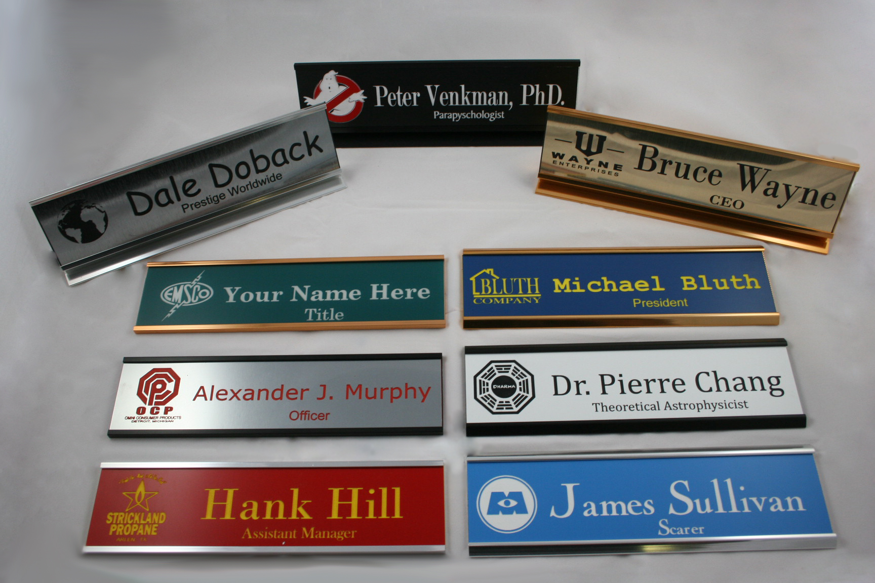 the functionality of name plates in the work place name tag experience