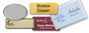 reusable name tags personal identification