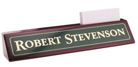rosewood desk wedge name plate