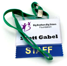 networking only works when you use your name tags correctly with logos titles and names