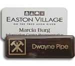 laser engraved metal with logo two color name tags name badges