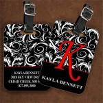 custom luggage tags from plastic name tags printed full color or laser engraved
