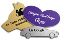 adding logos to custom shaped name tags
