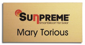 UV color logo plastic name tags
