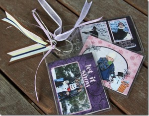 holiday memory booklets using name badge holders name tag ideas