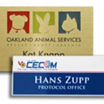 full color name tag with logo