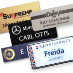 6 Ways To Personalize Name Tags logos and graphics