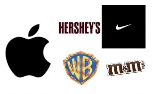Corporate Branding personalized identification logos hershey apple warner bros nike m&m mars