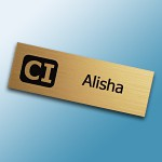 laser engraved plastic name tag
