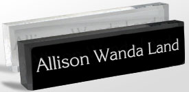 custom acrylic name plate