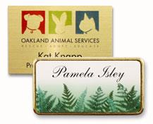 full color custom name tag