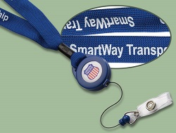 badge reels with lanyards are great for text and logos