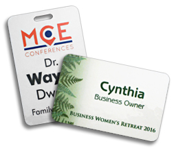 choose from our large line of personal identification products for your next event