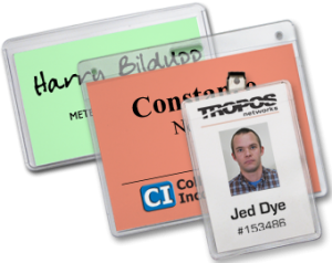 use badge holders for attendee identification at your next conference or event