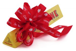 using custom ribbon rolls for corporate gifting