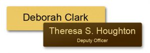 stock metal name tags can be used for police and emergency personnel