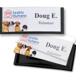reusable name tags and mighty badges are perfect for conferences and events