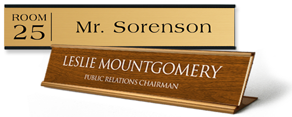 display a name plate easily with a variety of holders and methods at your office or on your desk