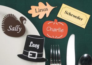 thanksgiving and holiday ornaments for place settings and other decorations