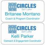 plastic full color name tags with logo giving and name tag donations
