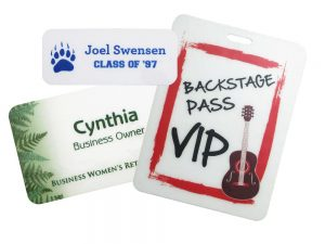 event name tags and name badges conference name tags come in three sizes